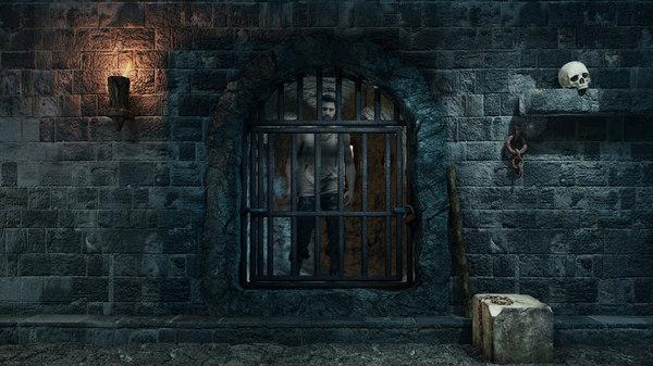 3D dungeon prison model