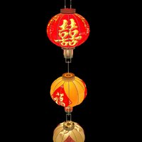 3D model chinese lantern red