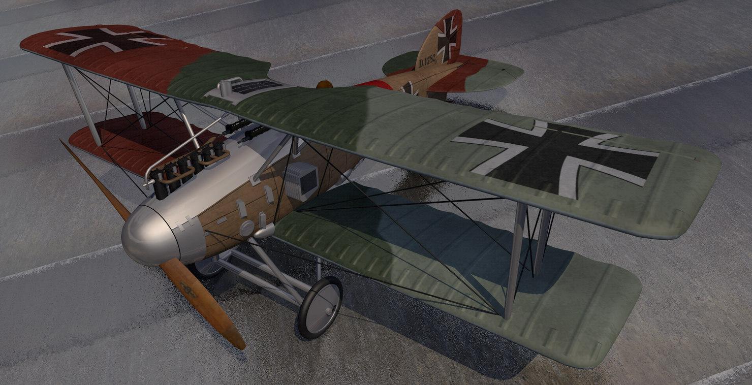 plane albatros d-2 3D model