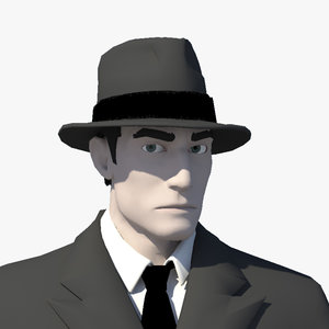 gangster character 3D model