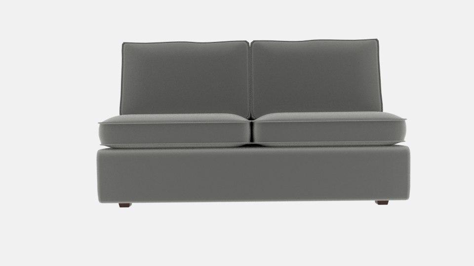 attractive armless sofa halsey model