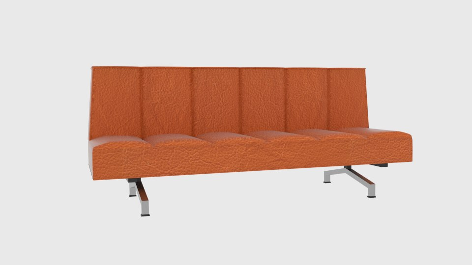 flex orange sleeper sofa 3D model
