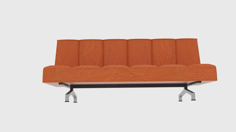 Flex Orange Sleeper Sofa Model