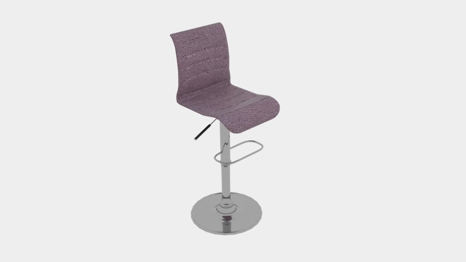 vigo upholstered grey gas 3D model