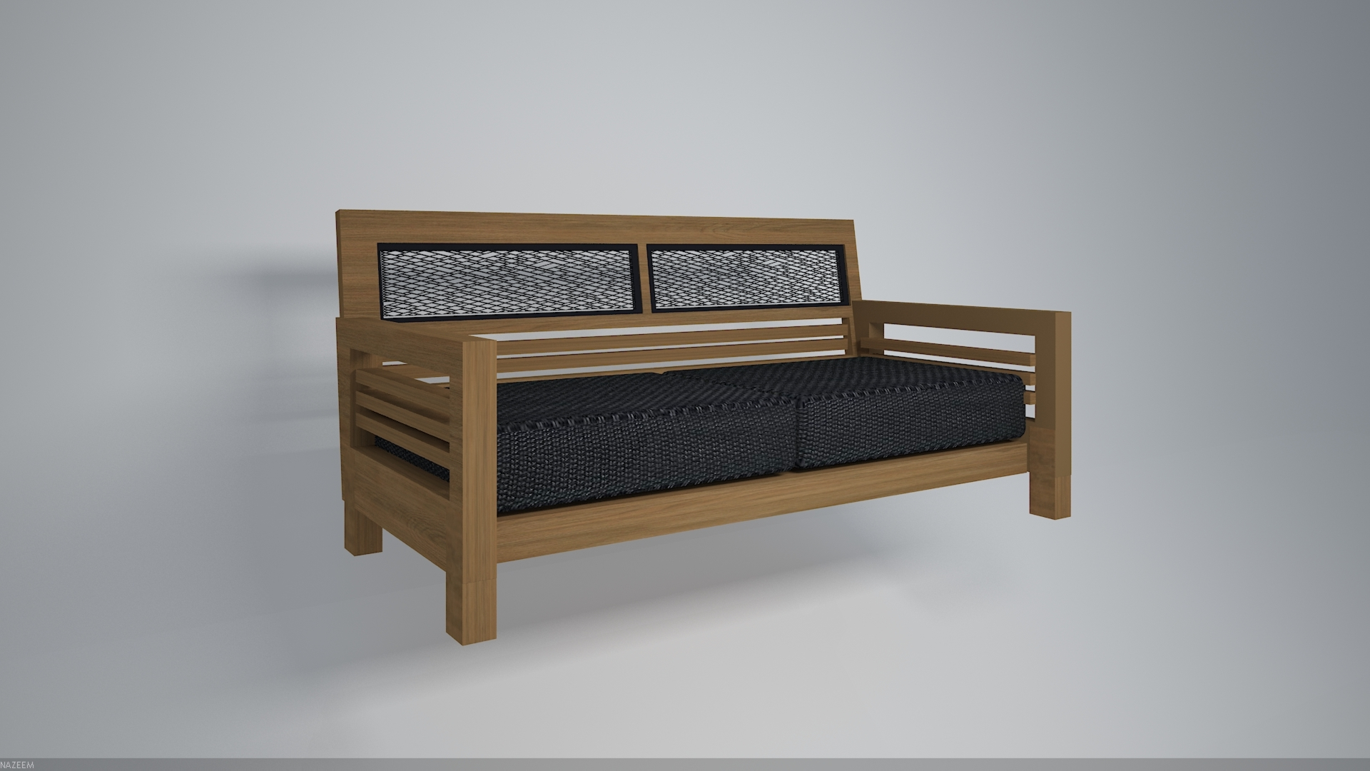 Wooden Sofa 5 Models