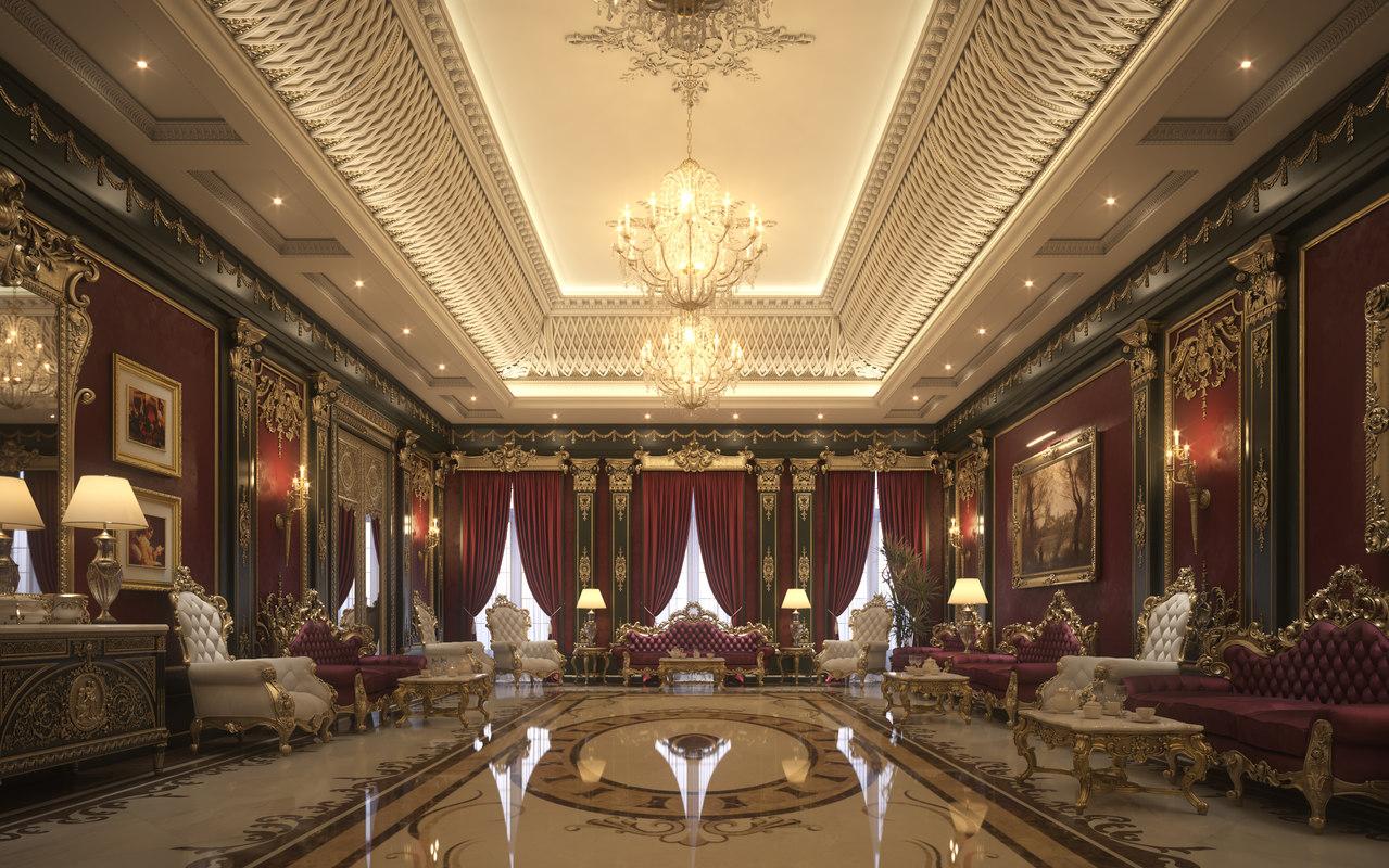3D scene luxury living