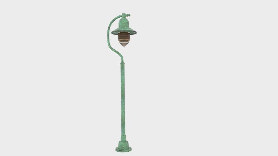 3D garden light porto 90 model