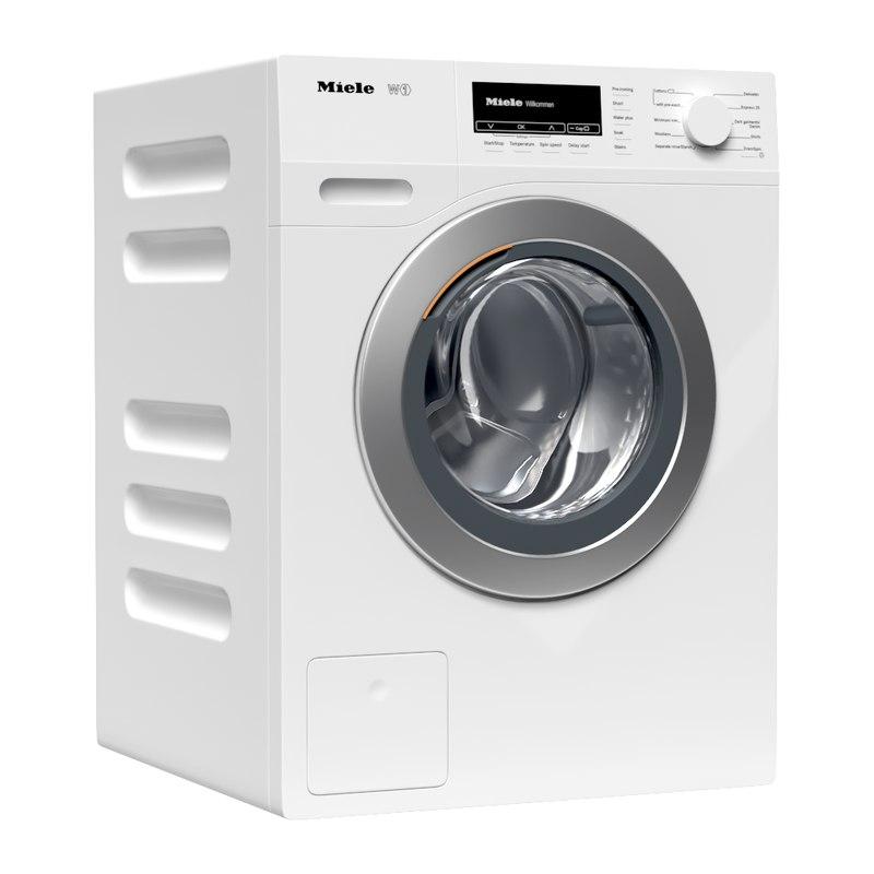 Miele Washing Machine >> W1 Washing Machine Miele Model Turbosquid 1272322