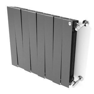 3D bimetallic radiator pianoforte heats model