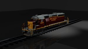sd40-2 locomotive 3D model