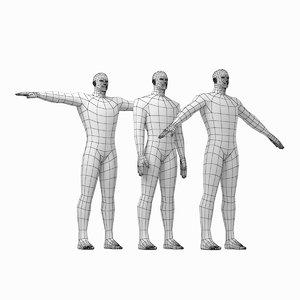 3D model mesh hero male body