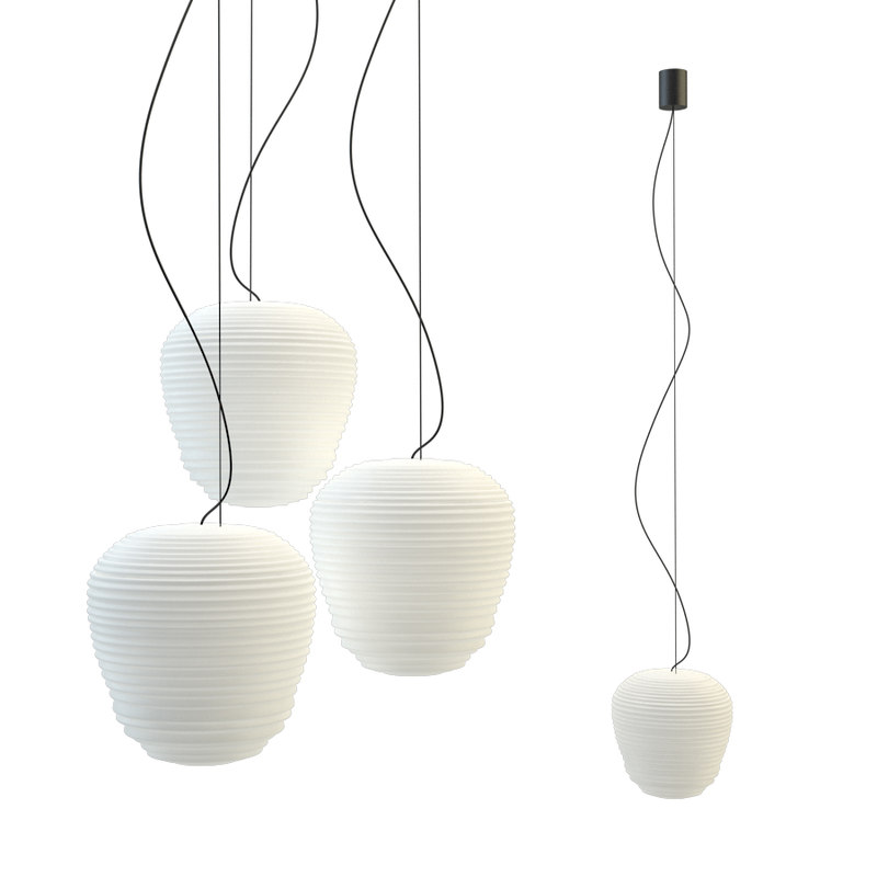 3D glass rituals suspended lamps model