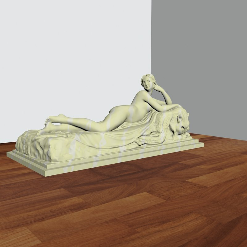 sculpture reclining naiad 3D
