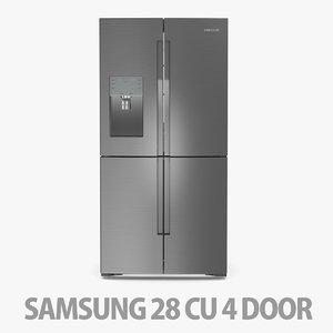 refrigerator 4 door 3D model