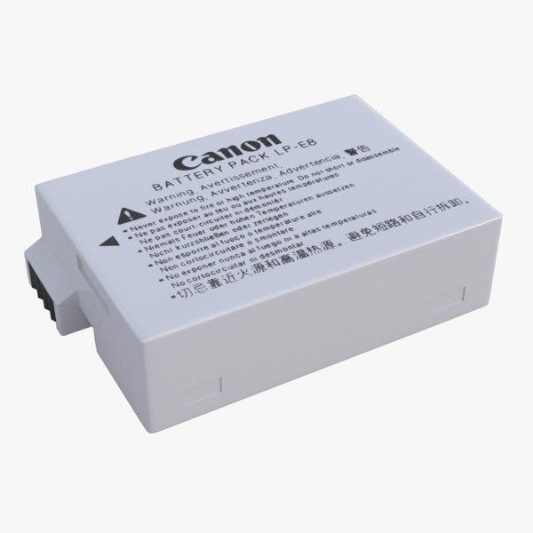 battery lp-e8 canon 3D