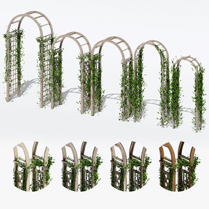 3D garden arches