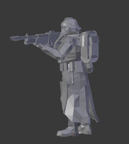 soldier krieg 3D model