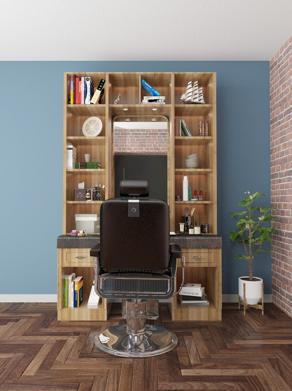 cabinets barbershop 3D model