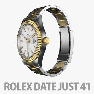 3D rolex datejust 41
