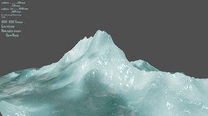 3D ice iceberg model