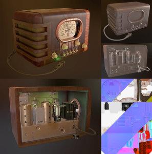 classical table radio zenith 3D model