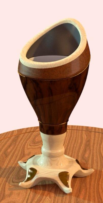 3D oriental heritage perfumed model