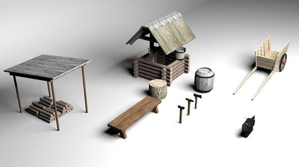 set medieval model