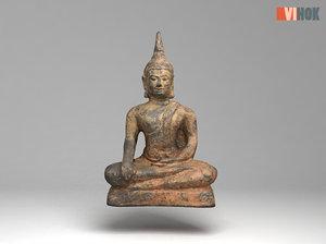 3D ancient buddhas model