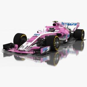force india vjm11 formula 1 3D model