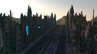 3D sci fi futuristic city