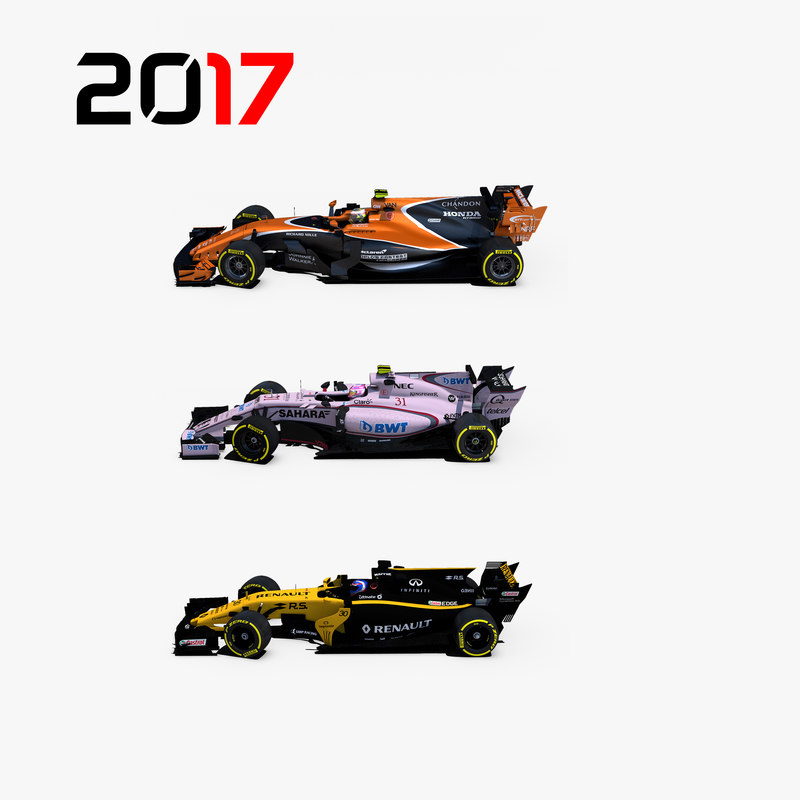 formula 2017 cars 1 3D