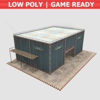 3D industrial building - hangar