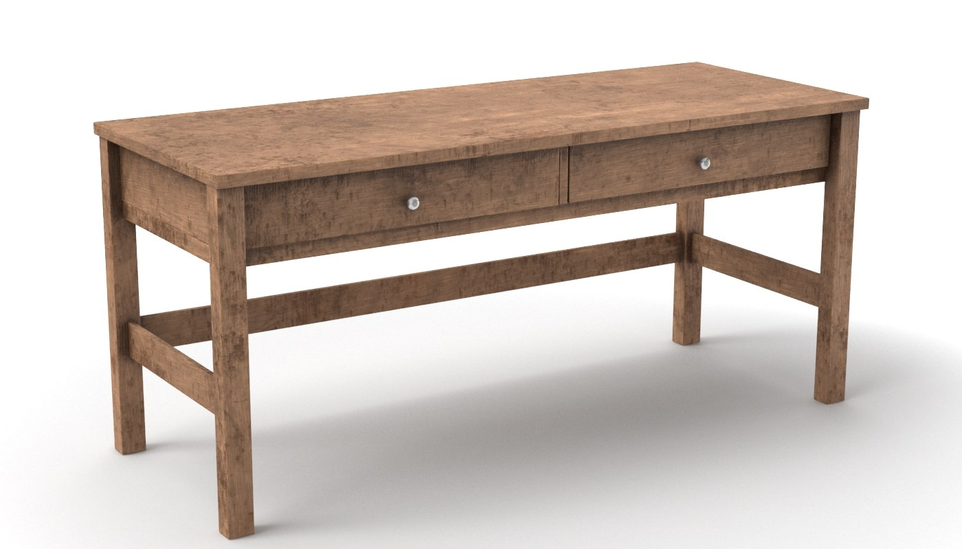3D model desk old