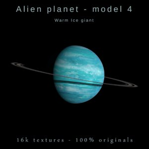 alien planet ice giant 3D model
