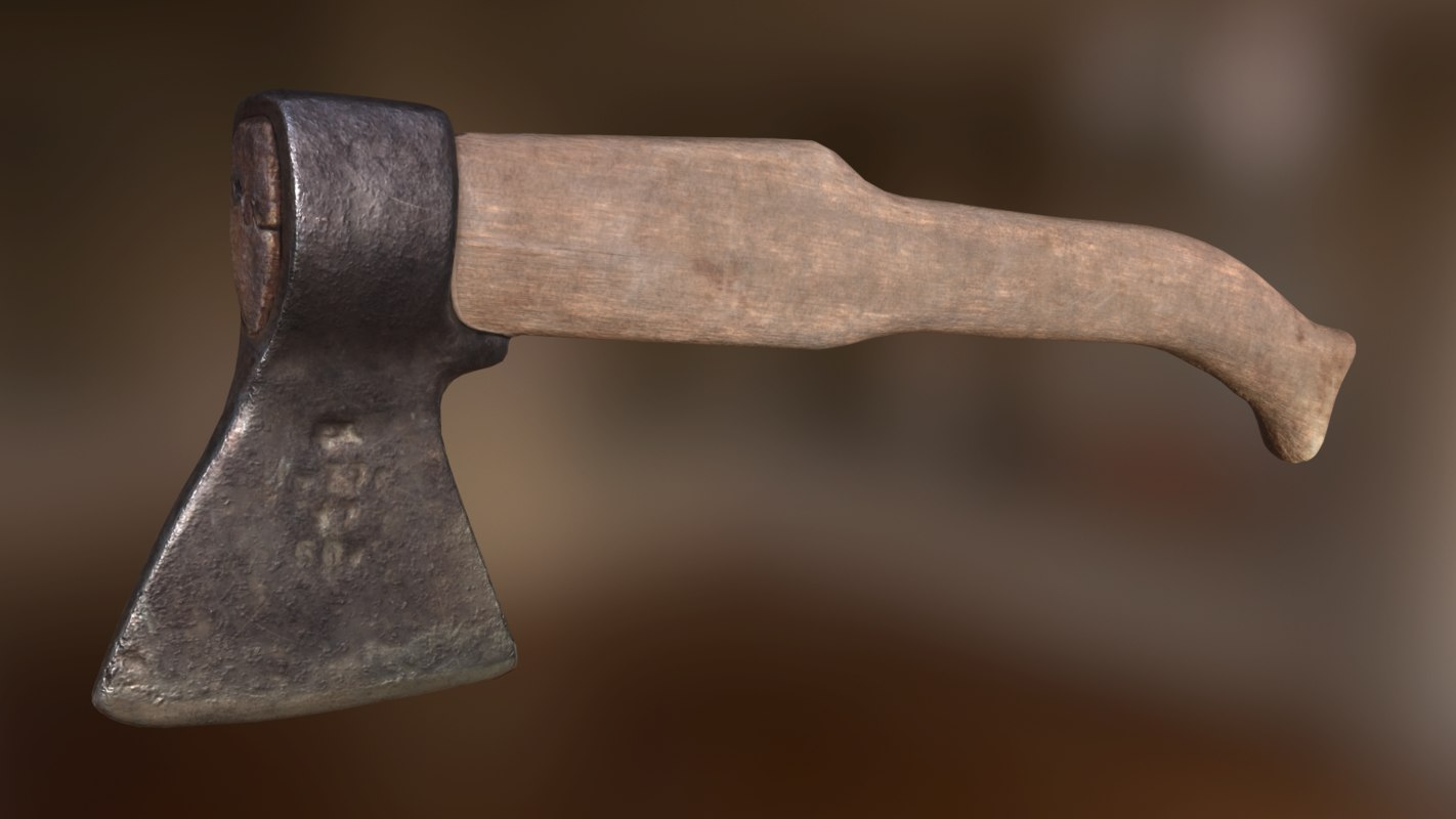 old axe 3D model
