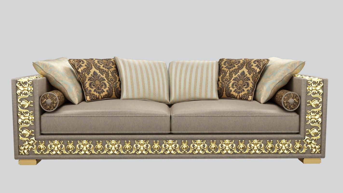 3D model classic sofa - TurboSquid 1272479