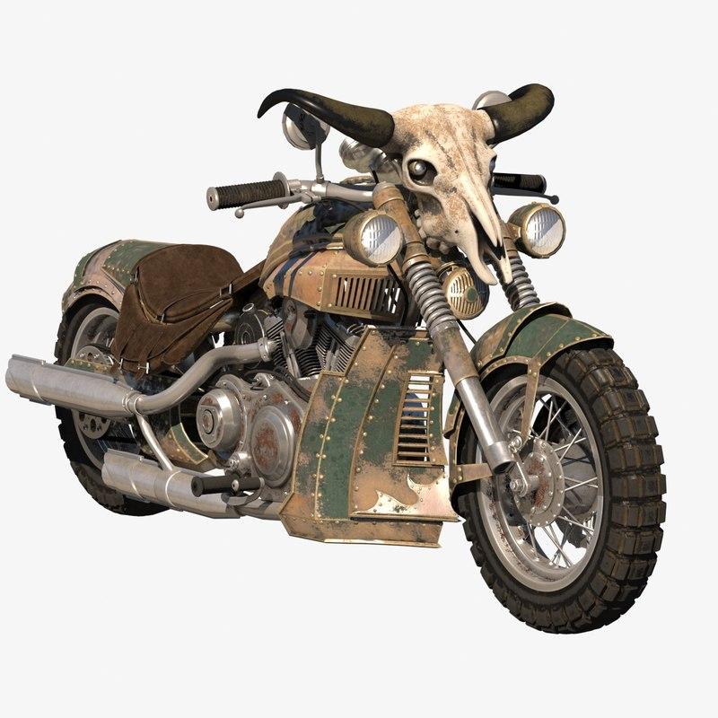 3D Fantasy Bike Model