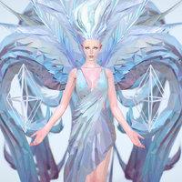 white angel art 3D model