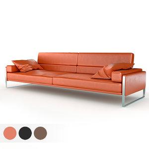 3D rocco 2 seater sofa