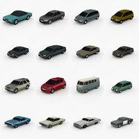 3D model cars pack vol 1