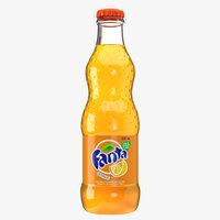 3D fanta drink bottle model