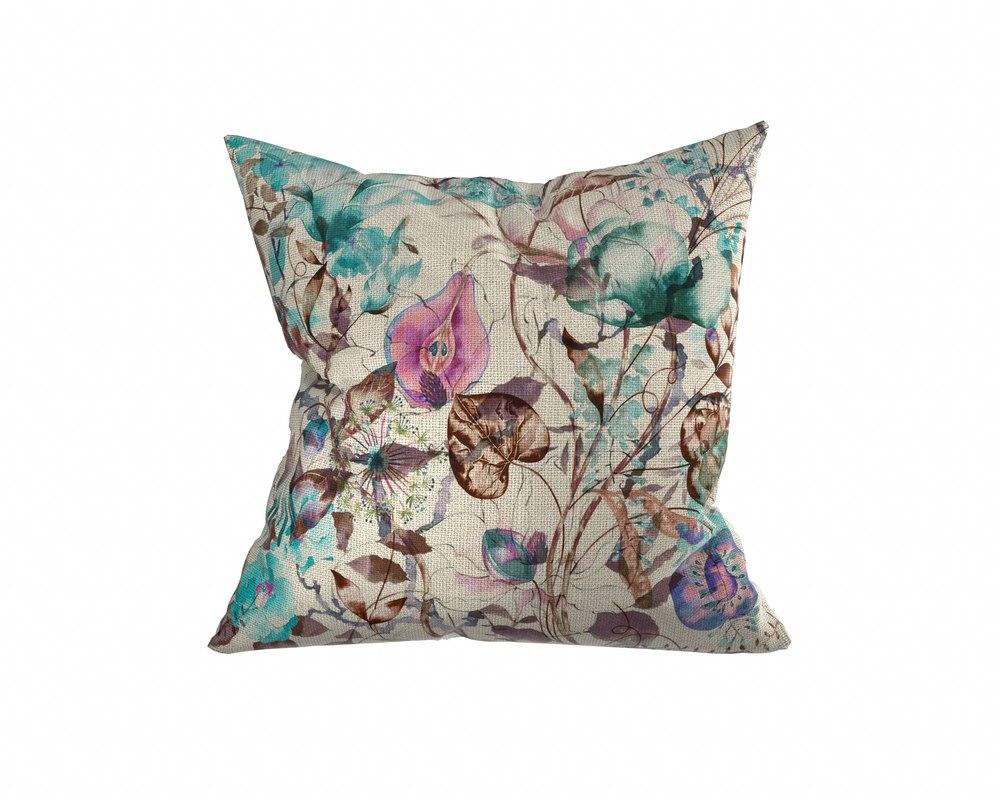 3D floral pillow 2