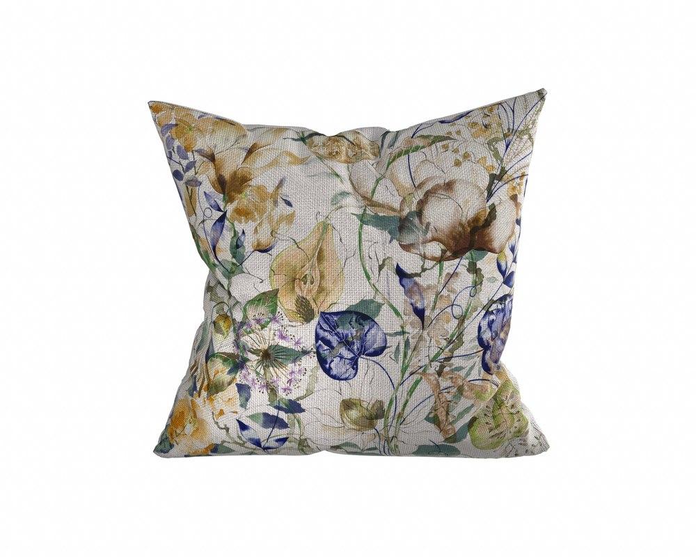 floral pillow 3 3D