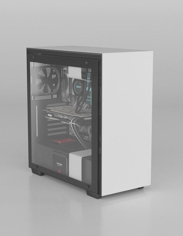 3D nzxt pc h700i model