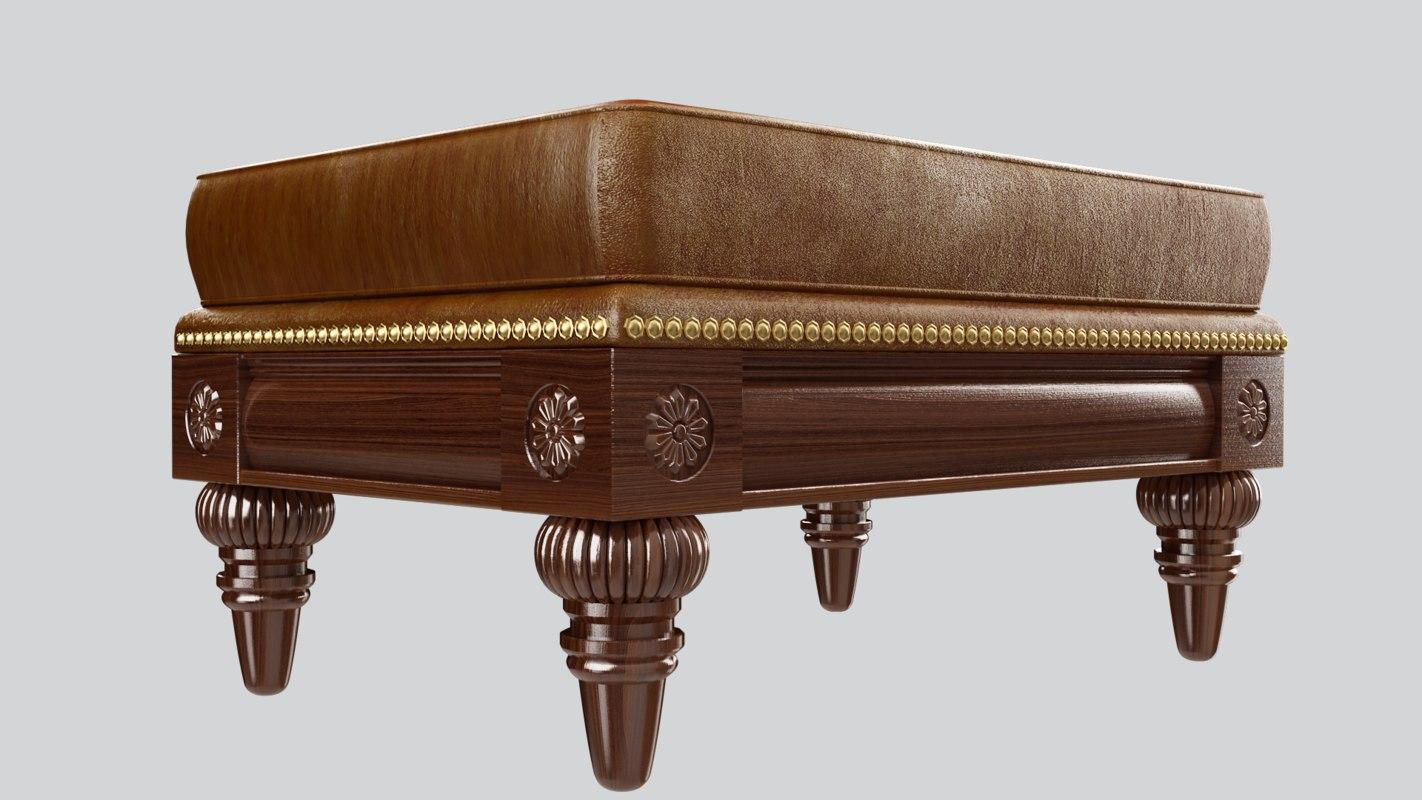 stool classic sofa 3D model