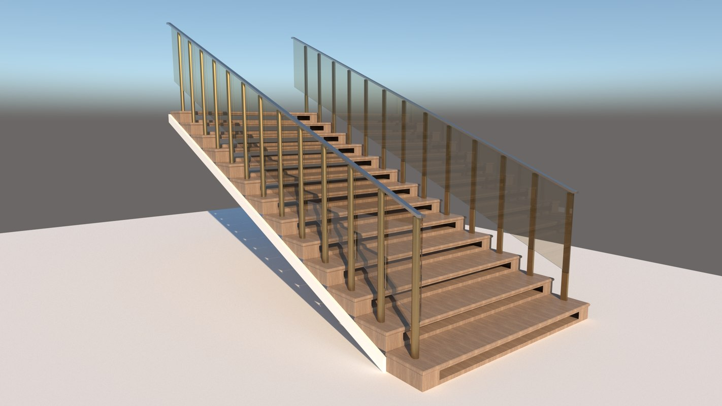 3D model designed stairs
