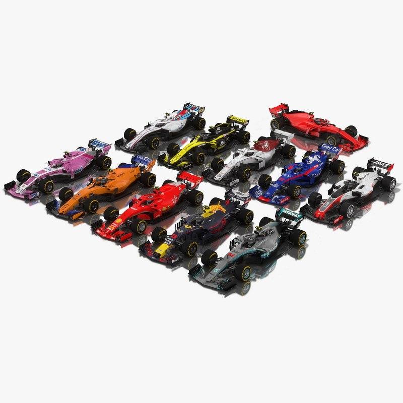 pack formula 1 2018 3D model