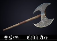 3D model celtic axe