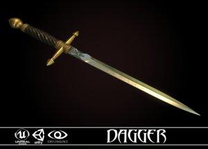 3D dagger medieval