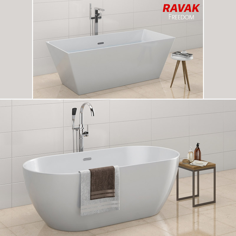 bath ravak freedom 3D model